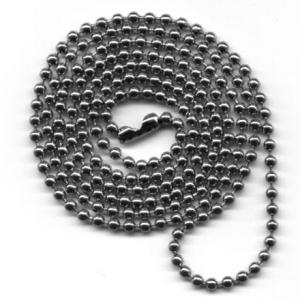 Metalowy łańcuszek - smycze do kart plastikowych
