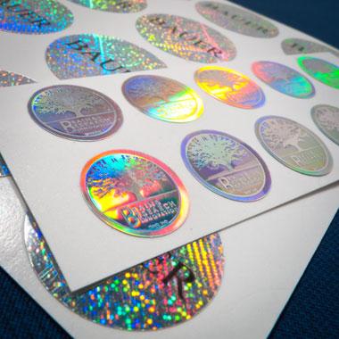 Hologramy samoprzylepne